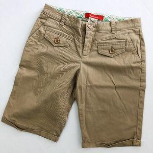 Anthro Cartonnier Cuffed Khaki Bermuda Shorts